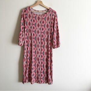 Pixley Stitch Fix Printed Crewneck Shift Dress